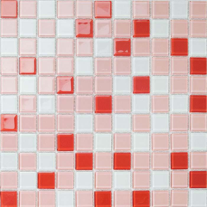 Wholesale Glass Mosaic For Swimming Pool Tile Sheet Red