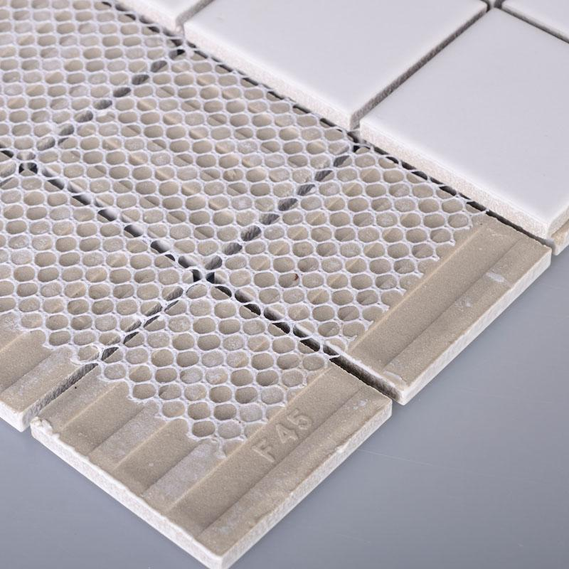 ... Porcelain Floor Tile Mosaic White Square Brick Tiles Kitchen Backsplash  Ideas Bathroom Wall Sticker ...