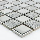 porcelain mosaic grey square metal coating tile kitchen backsplash bathroom wall sticker mirror tile