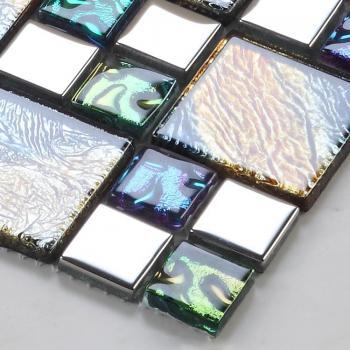 vitreous mosaic tile plated crystal glass backsplash kitchen design art bathroom wall tiles