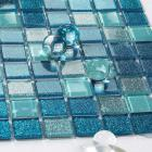 vitreous mosaic tile crystal glass backsplash washroom design blue bathroom wall floor tiles