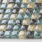 vitreous mosaic tile crystal glass backsplash washroom design ice crack bathroom wall floor tiles