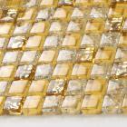 crystal glass tile backsplash border bathroom gold ice crackle mosaic design liner wall tiles sheet