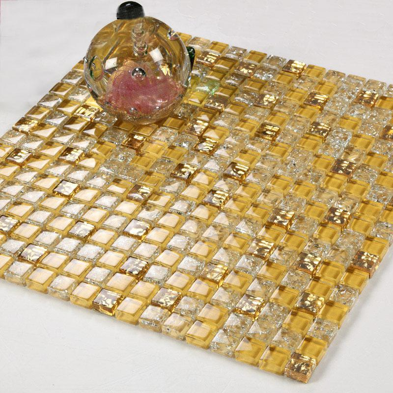 wholesale crystal glass tile backsplash border bathroom gold ice crack. Black Bedroom Furniture Sets. Home Design Ideas