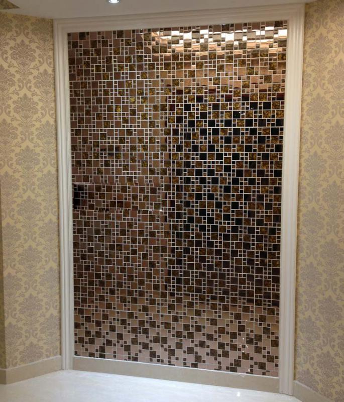 wholesale vitreous mosaic tile backsplash gold 304 stainless steel wit. Black Bedroom Furniture Sets. Home Design Ideas