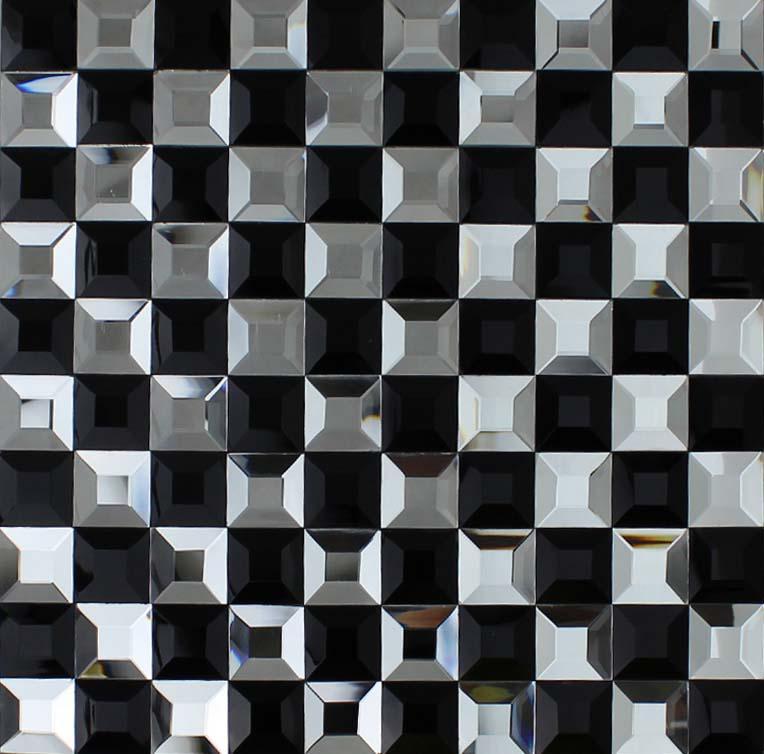 Black Mosaic Tiles Kitchen: Wholesale Vitreous Mosaic Tile Crystal Glass Backsplash