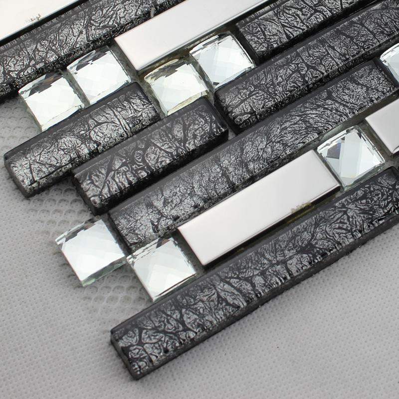 wholesale metallic backsplash tiles brown 304 stainless