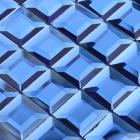mosaic tile crystal glass backsplash kitchen blue pyramid design bathroom wall washroom floors