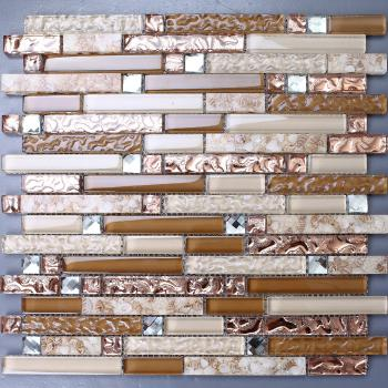 mosaic tile crystal glass backsplash washroom design bathroom wall floor tiles resin shell