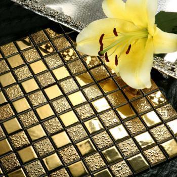 porcelain bathroom wall interior decorative gold plated tile mosaic kitchen backsplash ideas mirror