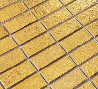 porcelain pool tile mosaic gold  strip wall fireplace decor brick panel interior design art floors