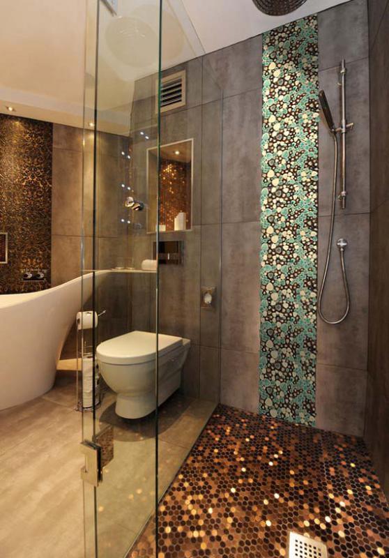 Wholesale Mosaic Art Collection Mixed Heart Shaped Porcelain Pebble Ti - Mosaic-tile-backsplash-model