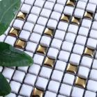 glazed porcelain tile mosaic mirrortiles floor bathroom mirror wall sticker plated gold backsplash