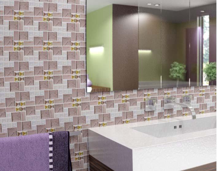 Porcelain Tile Mosaic Flower Surface Art Tiles Kitchen Backsplash Bathroom Wall Stickers Plated