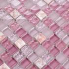 pink stone crystal mosaic tile sheet square backsplash washroom of  wall stickers kitchen wall tiles