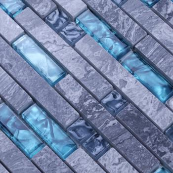 grey stone with crystal mosaic tile sheets kitchen back splash wall stickers N008 bathroom mirrored wall backsplash tiles