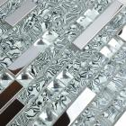 304 stainless steel sheet metal and crystal glass blend mosaic diamond tiles metallic backsplash