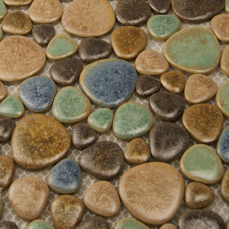porcelain tile mosaic pebble design shower tiles kitchen backsplash. Black Bedroom Furniture Sets. Home Design Ideas