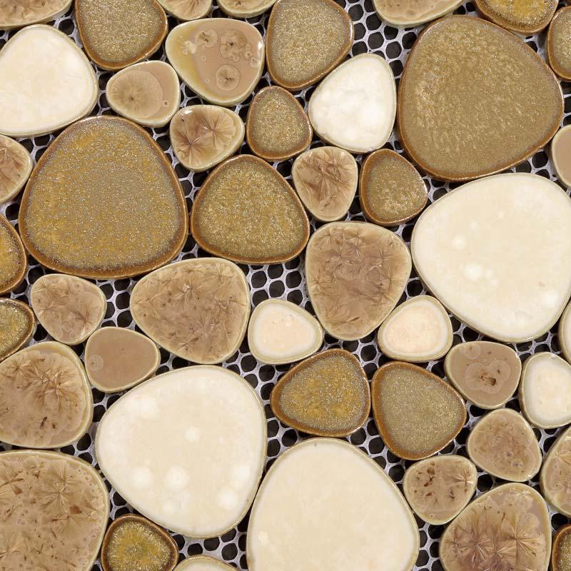 wholesale porcelain pebble tile sheets bathroom wall backsplash collec. Black Bedroom Furniture Sets. Home Design Ideas