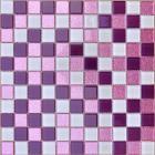 crystal glass mosaic tiles washroom backsplash design bathroom wall floor purple shower tiles