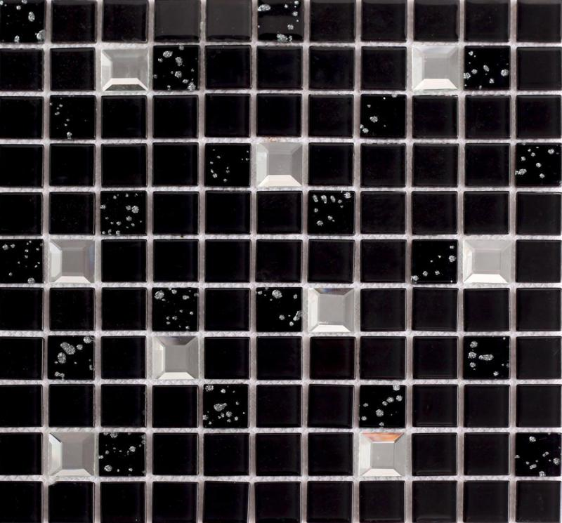wholesale black crystal glass mosaic tile washroom backsplash plated d. Black Bedroom Furniture Sets. Home Design Ideas