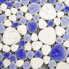collection mixed porcelain pebble tile sheets for fireplace wall border tile heart-shaped mosaic art