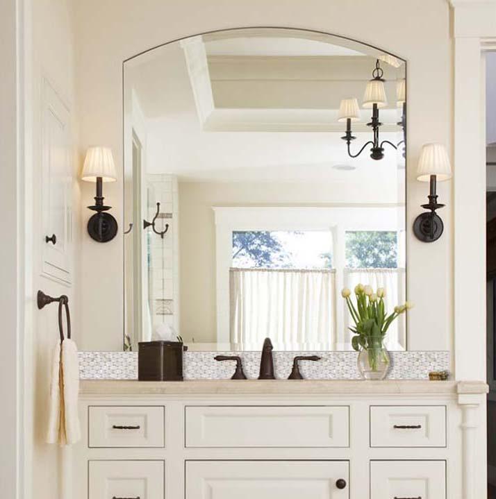 Captivating ... Mother Of Pearl Tile Natural Ellipse White Shell Mosaic Tile Mirror  Backsplash Shower Liner Wall Art