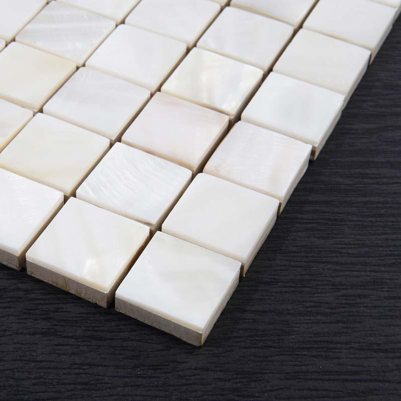 Kitchen Tiles Square: Shell Tiles Kitchen Backsplash Tile Mother Of Pearl Mosaic