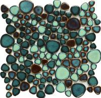 porcelain pool tile mosaic pebble green ceramic mosaics fireplace CZG619A bathroom floor sticker wall tile kitchen backsplash