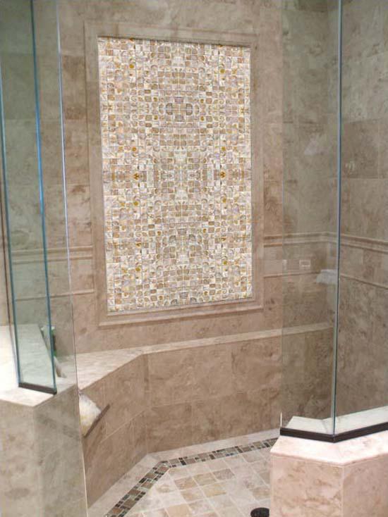 ... mother of pearl tile shower wall and floor backsplash white shell tiles  square seashell mosaics