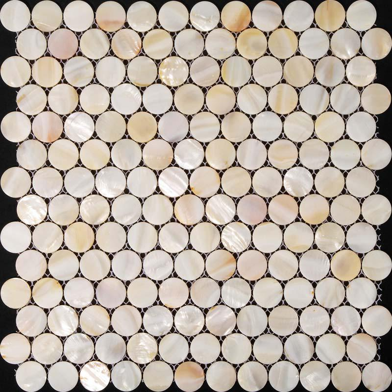 Penny Round Backsplash: Penny Round Mother Of Pearl Kitchen Backsplash