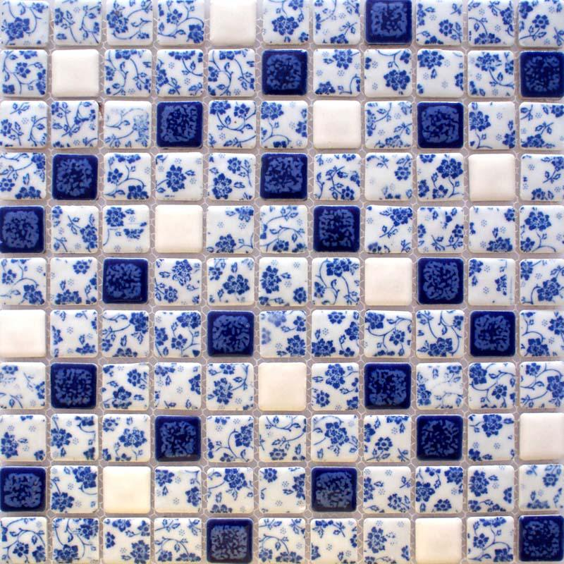 Porcelain Tile Shower Mosaic Floor Tiling Pattern