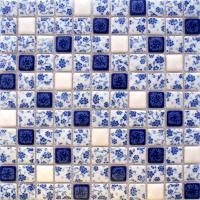 porcelain tile shower white and blue square mosaic floor tiling pattern bathroom wall stickers