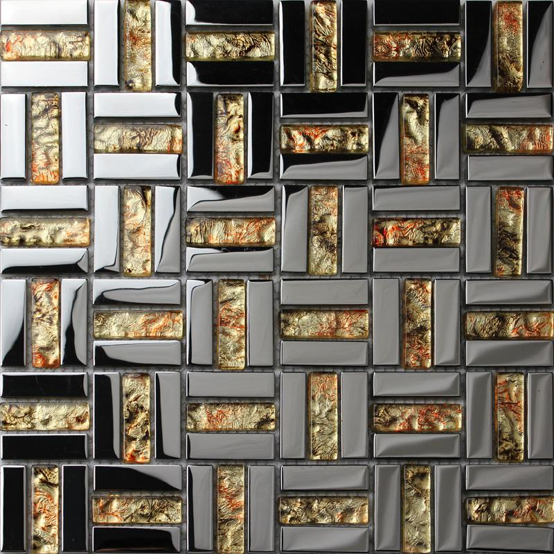 Mirror plated tile backsplash mirrored glass mosaic tiles for Mirror tiles