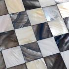 shell mosaic tiles black & white mother of pearl tile kitchen backsplash painting colorful seashell mosaics pearl wall tiles
