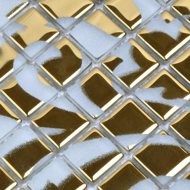 Crystal glass tile golden mosaic pattern design interior Mosaic tile wall designs