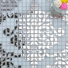 crystal glass tile silver mosaic pattern design interior wall mural decoration shower liner walls