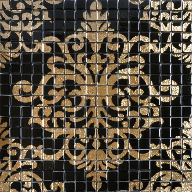 crystal glass tile black puzzle mosaic tile. Black Bedroom Furniture Sets. Home Design Ideas
