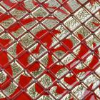 crystal glass tile red puzzle mosaic tile crystal backsplash kitchen mosaic wall tiles doud008