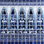 crystal glass tile blue &white puzzle mosaic tile crystal backsplash kitchen mosaic wall tiles sm113