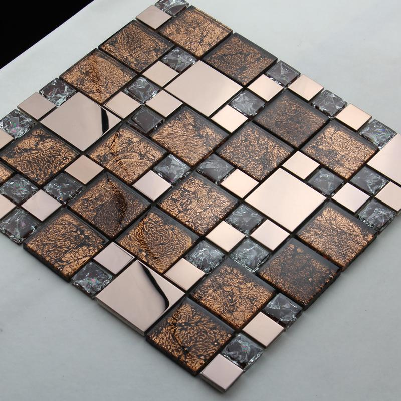 wholesale metallic backsplash tiles silver 304 stainless steel sheet m. Black Bedroom Furniture Sets. Home Design Ideas