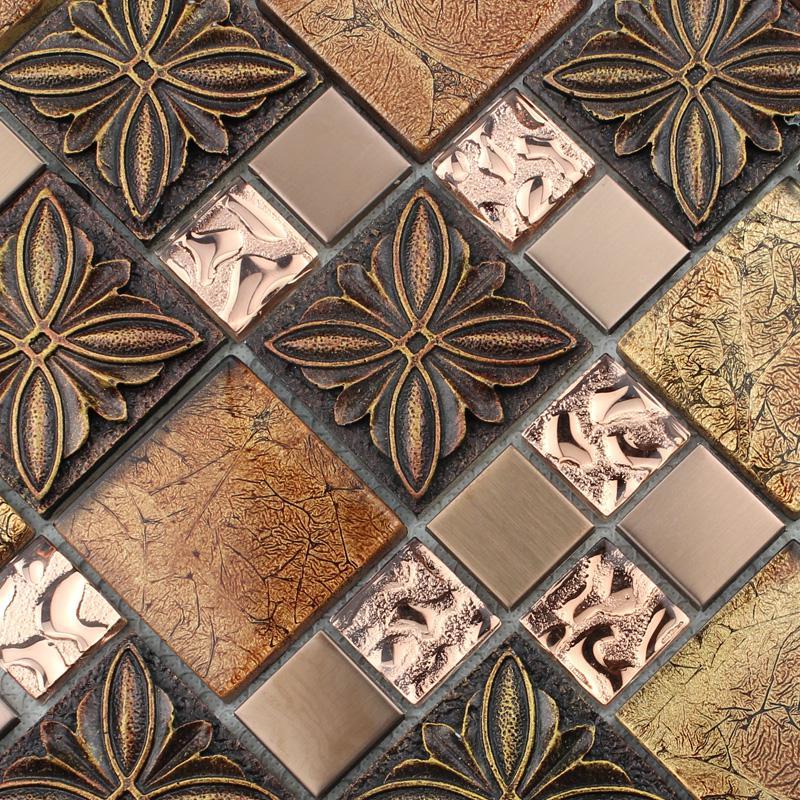 Glass Tile Brown Glass Mosaic Tiles Crystal Glass Tile Hominter Com