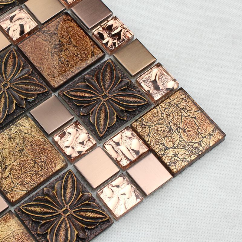 Glass tile Brown glass mosaic tiles crystal glass tile | Hominter.com