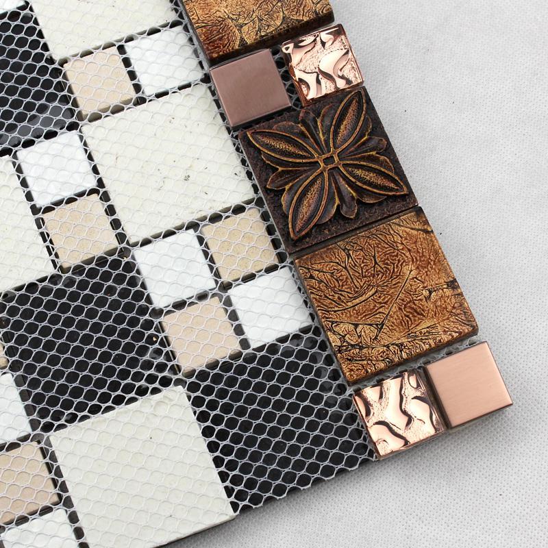 glass tile brown glass mosaic tiles crystal glass tile. Black Bedroom Furniture Sets. Home Design Ideas