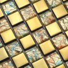 glass mosaic tiles melted crack crystal backsplash tile bathroom wall tiles stickers
