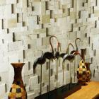 stone glass mosaic tile natural wood pattern wall marble tiles backsplash mosaic tile sgs57-gd2013
