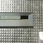 stone glass mosaic tile grey wood pattern wall marble tiles backsplash mosaic tile sgs22-1