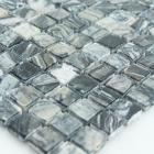 stone glass mosaic tile square mix pattern washroom wall marble backsplash floor tiles sgsgmw-15b