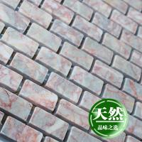 stone glass mosaic tile strip red pattern washroom wall marble backsplash floor tiles sgs110-g1530