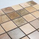 stone glass mosaic tile square brown pattern washroom wall marble backsplash floor tiles sgs66-48a